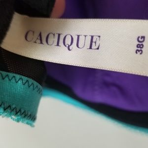 Cacique Intimates & Sleepwear - Cacique Swiss Dot Black Lace Bra